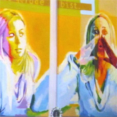 Aussprache als Schlüssel der Kommunikation I, Ausschnitt eines Gemäldes des Künstlers Wolfgang Schaper, Bad Nauheim