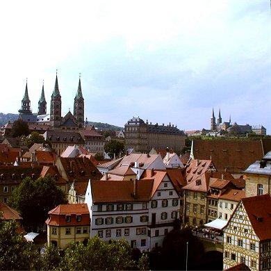 Bamberg, Blick über die Stadt nach Westen