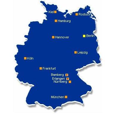 TREFFPUNKT-ONLINE Standorte auf der Deutschlandkarte