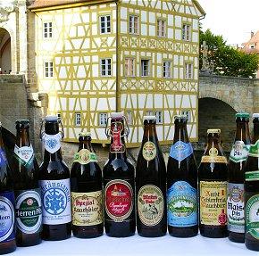 Bamberger Biere der 10 privaten Brauereien vor Ort