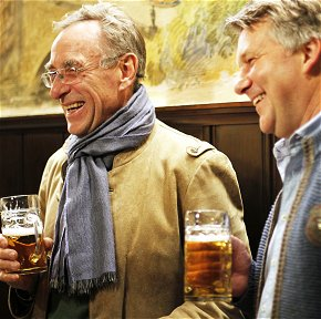 Leisure time  during the home tuition course German and beer
