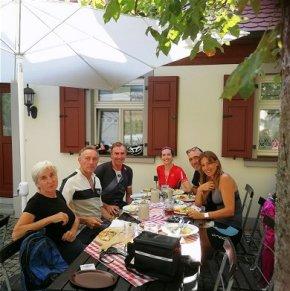 Am Schluss einer Mountainbike-Tour steht meist eine Einkehr in einer schöne fränkischen Wirtschaft
