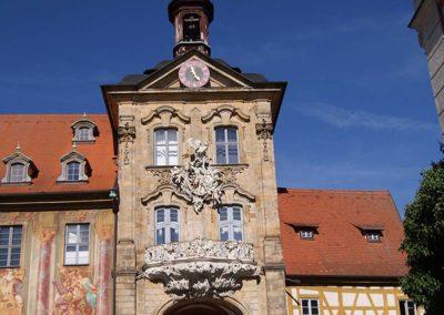 Aufgang zum Alten Rathaus in Bamberg
