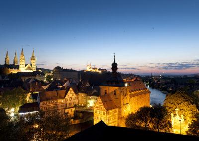 Abendlicher Blick über Bamberg - Faszination Weltkulturerbe