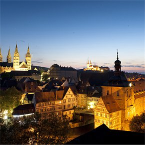 Abendlicher Blick über Bamberg Richtung Westen