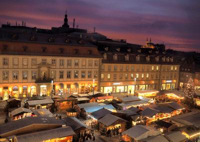 Blick auf den Bamberger Weihnachtsmarkt